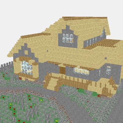 Minecraft Manor 3D View LayerByLayer Mineprints