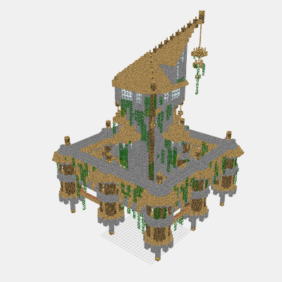 Mineprints view minecraft creations layer by layer for Final fortress blueprints