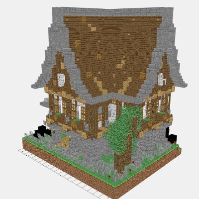 Mineprints View Minecraft Creations Layerbylayer - Minecraft mittelalter haus schematic